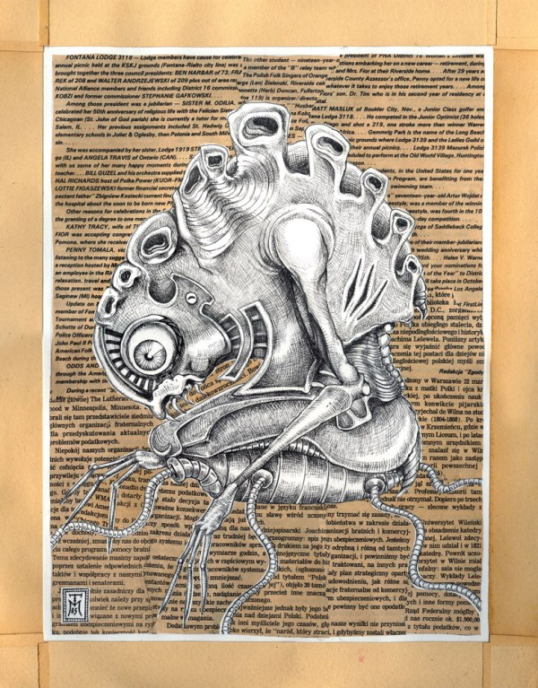 Surreal Drawing with Collage