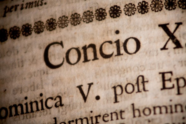 Sermones Sacri - Macro Detail of Antique Printed Text