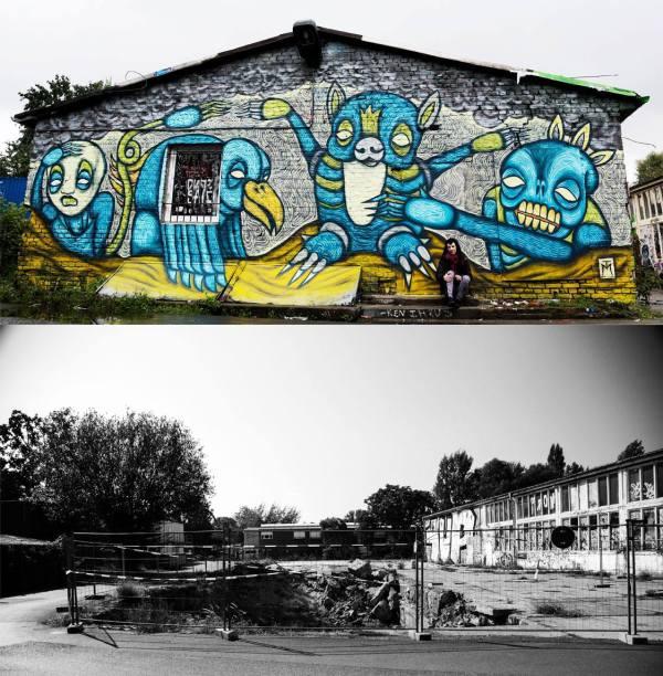 Demolished TM mural at RAW, Berlin