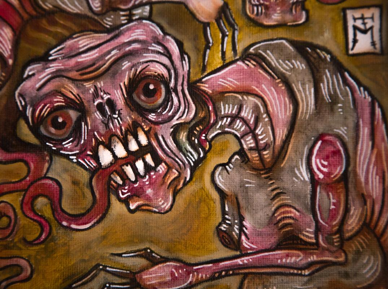"""Surreal Mixed Media Painting """"Waxing and Waning"""""""