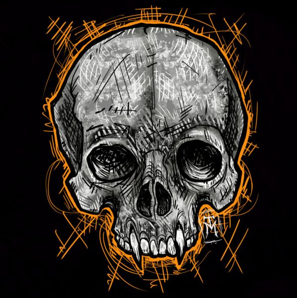 Vampire Skull Digital Illustration