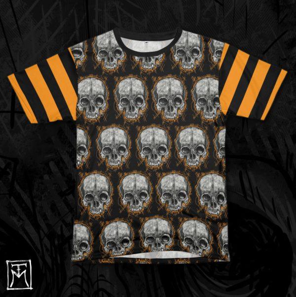 Vampire Skull All-OVer Printed Tshirt