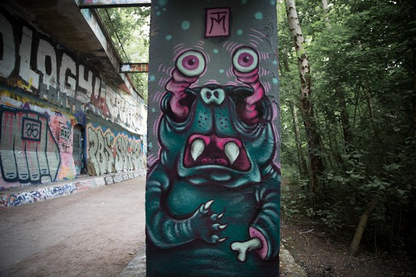Eyeball Demon Mural