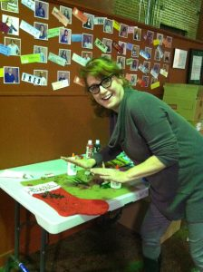 Our awesome Freshtix accountant Leah Faircloth decorating her stocking!