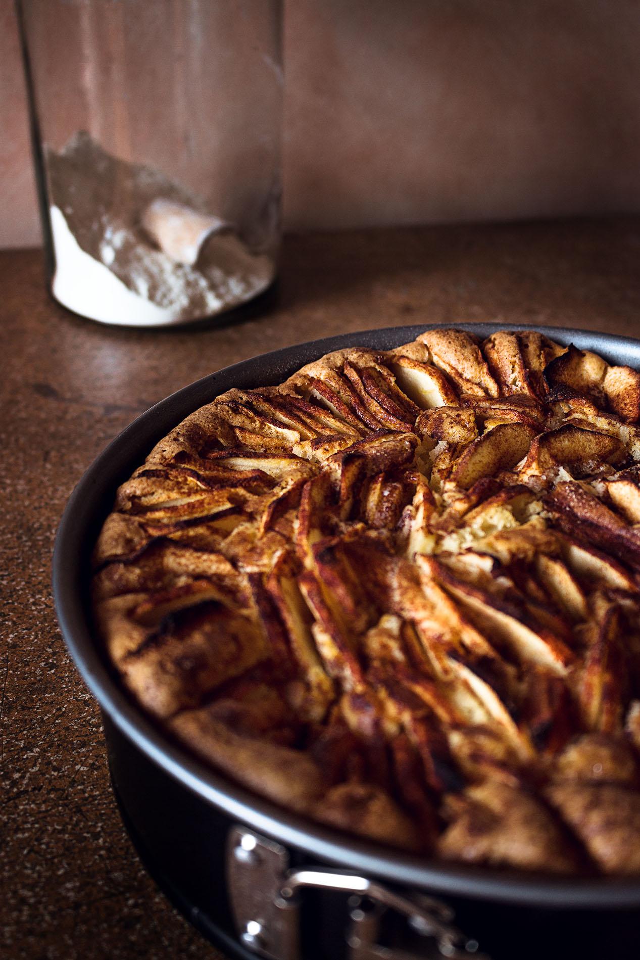 Apfelkuchen-gebacken