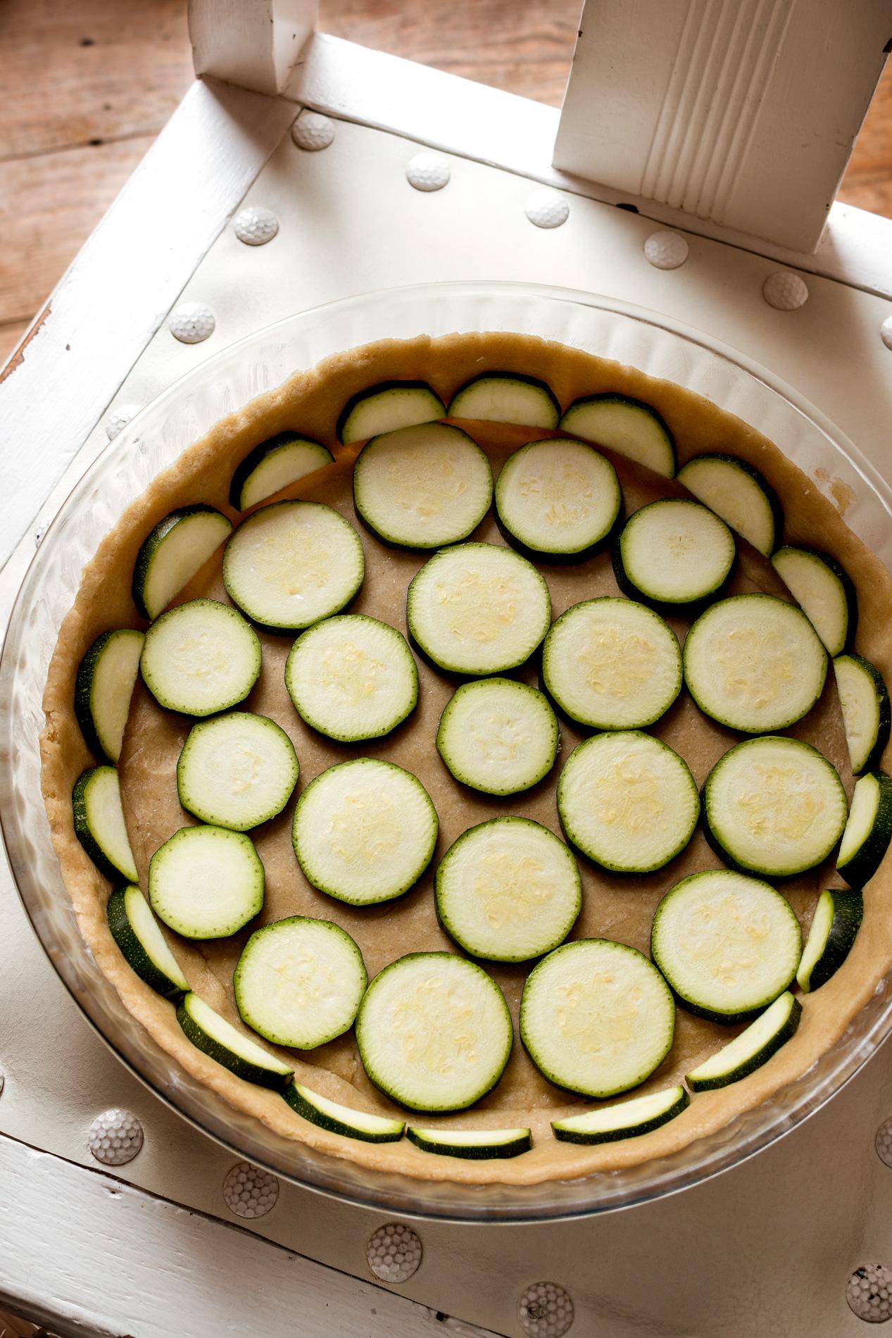 Zucchini für Kraeuterseitlingquiche