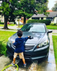 Monday, March 16, 2020 – Finding ways to get outdoors (car wash). New Orleans, LA. Stephanie Hepburn