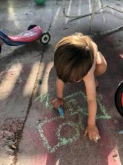 Monday, March 16, 2020 – Finding ways to get outdoors (chalk). New Orleans, LA. Tory Taylor