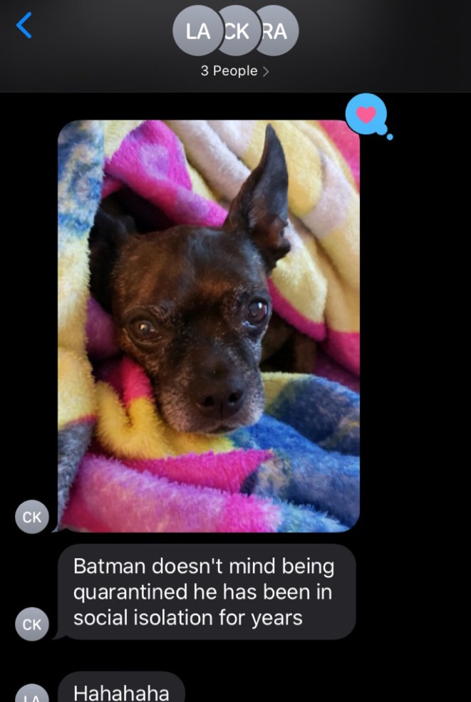 Tuesday, March 17, 2020 – Group Chat. Peoria, AZ. Rin Koenig