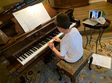 Wednesday, March 18, 2020 – Piano Lessons under COVID-19. Phoenix, AZ. David Covington