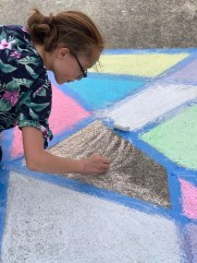 Sunday, March 22, 2020 – Chalk art. New Orleans, LA. Simone Boustead