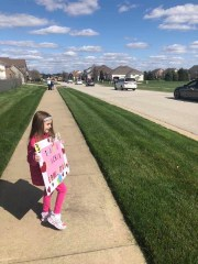 Wednesday, April 1, 2020 – Teacher parade for her elementary school. Not gonna lie...I was suppressing a pretty serious ugly cry for a large part of it. 😢 Decatur, IL. Heidi Dippold