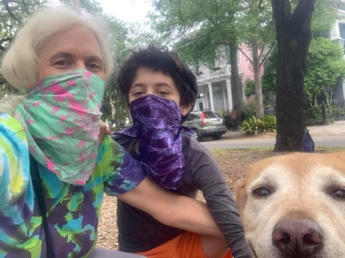 Saturday, April 11, 2020 – Out for a walk. New Orleans, LA. Kat Walker
