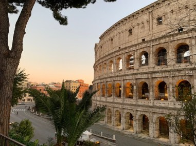 Tuesday, May 5, 2020 – In the couple of first days of lockdown, we were free to roam a bit further from home, and parks were still open. I captured this picture of the Colosseum from a street which runs above it at sunset. Though the Colosseum is less than half a kilometre from my house, this was the last time I could get near it until the lockdown lifted 8 weeks later. Rome, Italy. Lauren Phillips