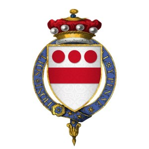 The coat of arms of Sir Walter Devereux