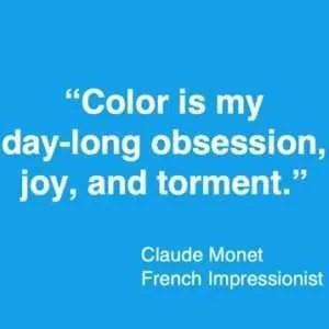 Colour quote Claude Monet
