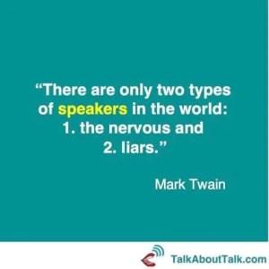 Mark Twain on confidence onstage