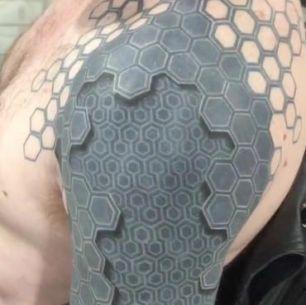 tatuagem 3d homem