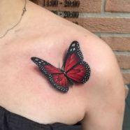 tattoo borboleta 3d 3
