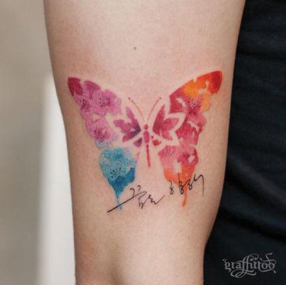 tattoo borboleta aquarela 3