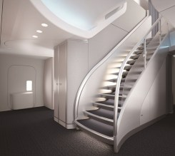 Air China 74H Staircase