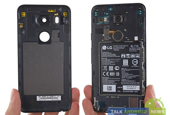 Nexus 5X gets a 7 out of 10 in repairability from iFixit