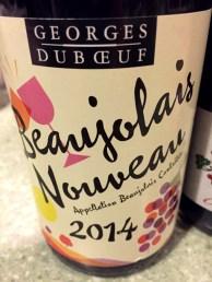 Beaujolais Nouveau Georges Duboeuf 2014