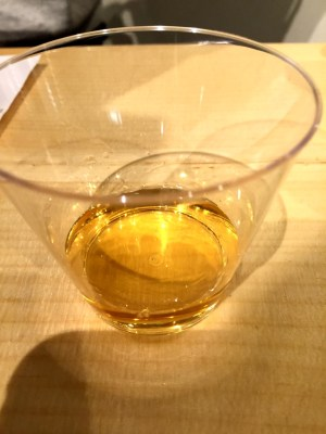 Vinoterra Kisi Orange wine in the glass
