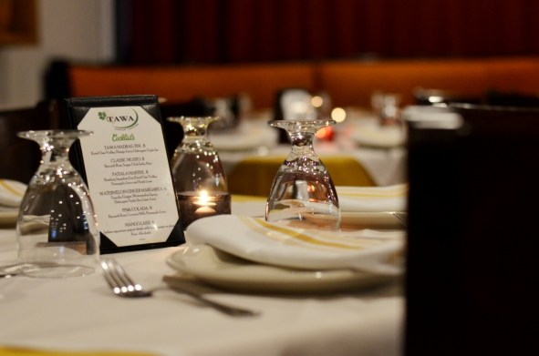 Place settings at Tawa