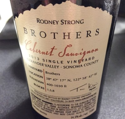 Rodeny Strong Brothers Cabernet Sauvignon