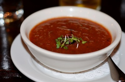 cold spring tomato soup Tavern 489