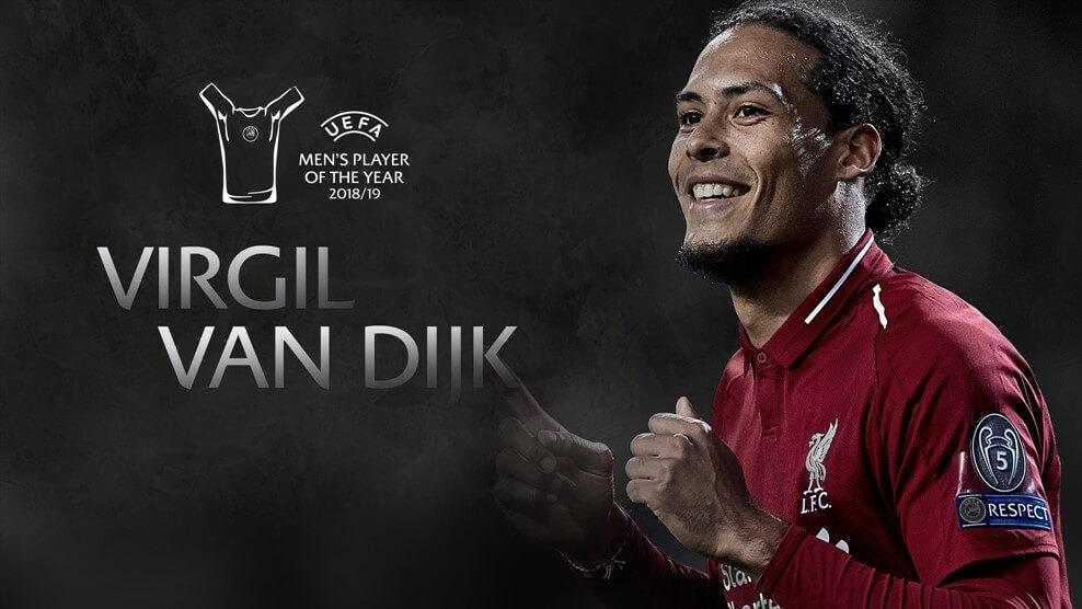 UEFA Men's Player of the Year award 2019 - Virgil Van Dijk