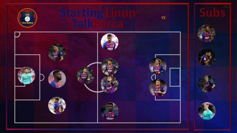 Inter vs Barcelona Starting Lineup - Champions League 19/20