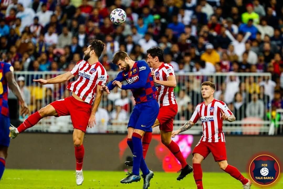Atletico Madrid vs Barcelona - Goal Disallowed VAR - Super Copa 2019-20