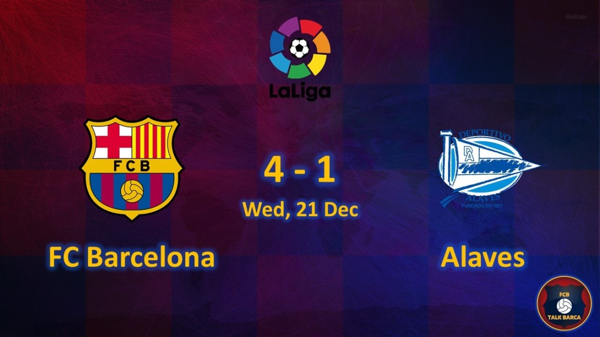 FC Barcelona vs Alaves December Review - Season 2019-20
