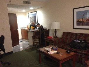 "We got a suite at the Drury, initially as a sort of ""treat,"" but we quickly realized our family is big enough to actually NEED a suite."