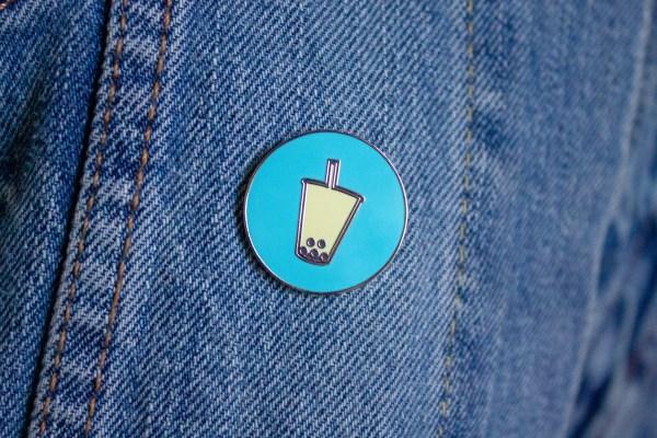 Talk Boba Custom Pin