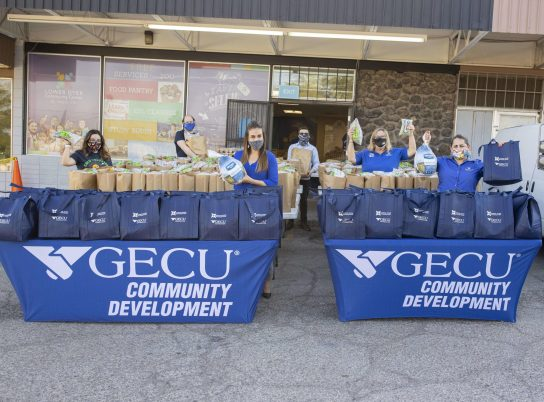 11-19-20 GECU Thanksgiving Dinner Donation Giveaway Event at LDCC IPA 06-min