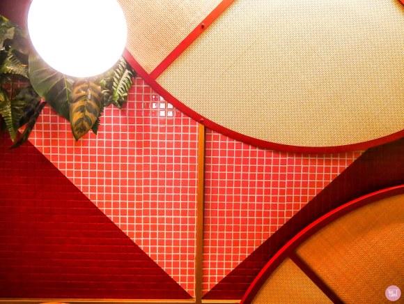 quirky fun custom carpet, Wall feature at Kaikaya Sushi inspires this custom pattern