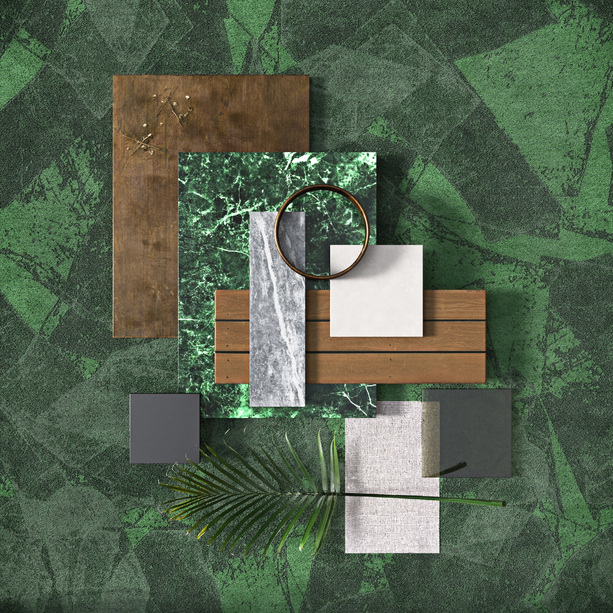 Talk Carpet jade mood board