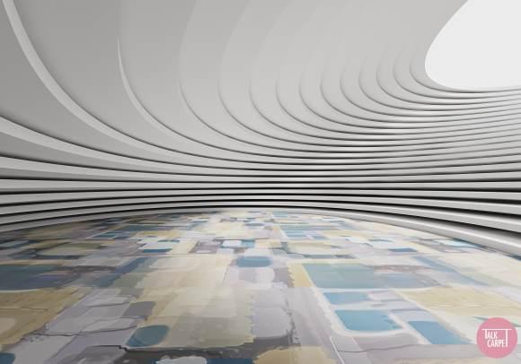 organic carpet pattern, Aerial views of agricultural fields inspire this organic carpet pattern