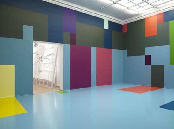color-blocking carpet, Color-blocking carpet as a tribute to Danish artist Malene Landgreen