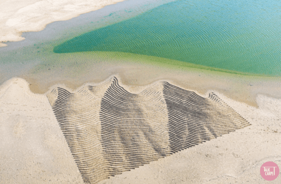 sand custom carpet, Sand artworks by Dutch artist Nico Laan inspire custom carpet