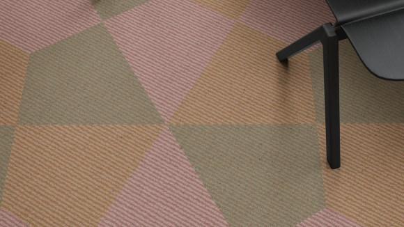 sixties office carpet, 21st century translation of a sixties office design
