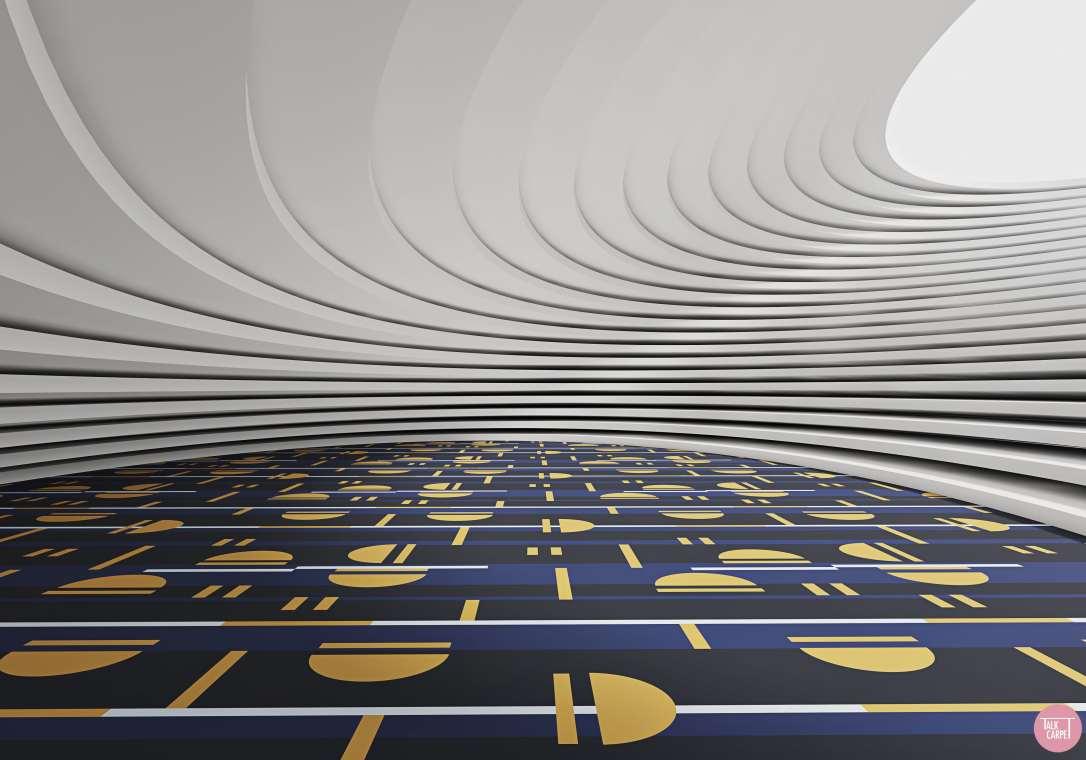 Talk Carpet sliding door custom carpet 3