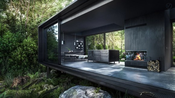 vipp shelter, Ultra modern cabin pod inspires this mood board