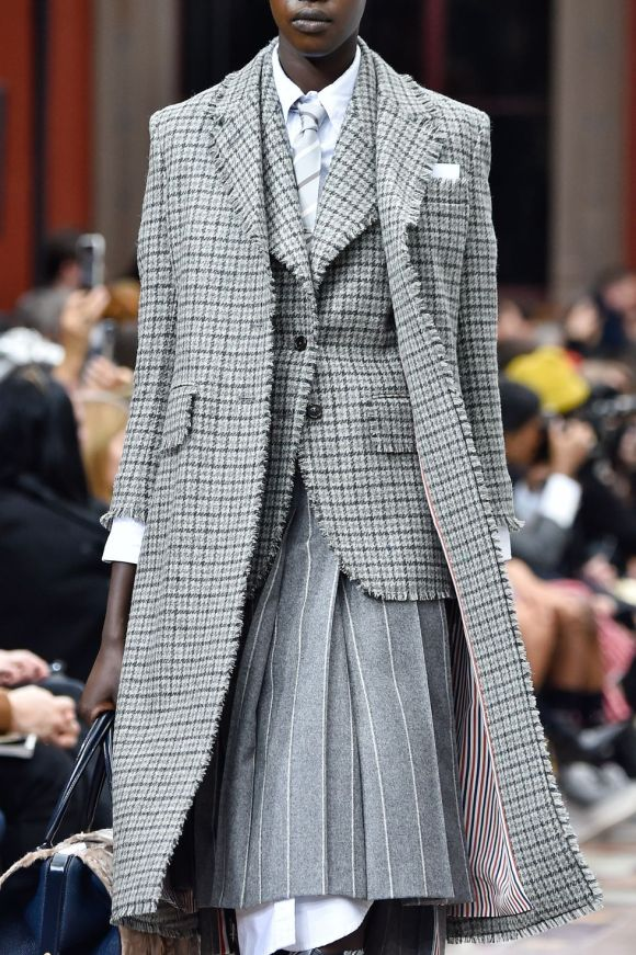 suiting materials board, Thom Browne suiting inspired materials board