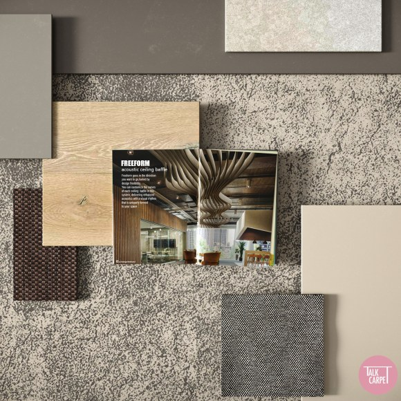 stone materials board, Earth and stone colors set the tone for this materials board