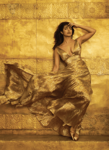gold mood board, Priyanka Chopras vogue shoot inspires this gold mood board