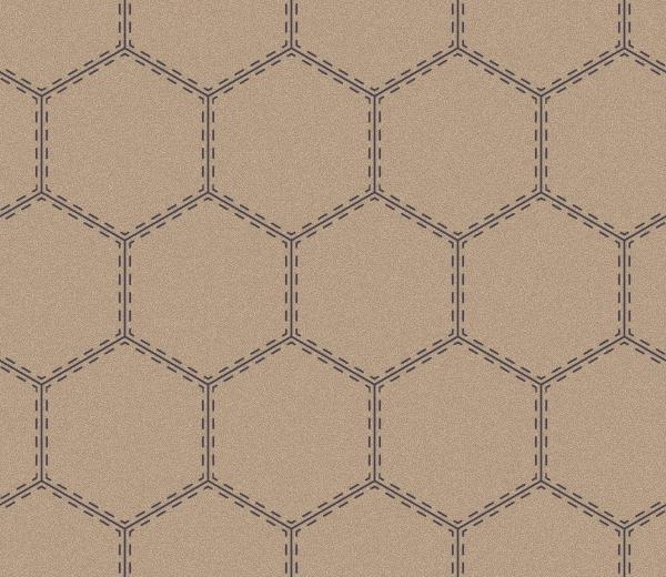 sporty hexagon  beige